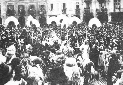 Presepio vivente del 1932 a Voghera