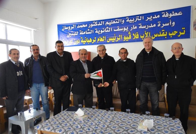 Il Ministro dell'Istruzione consegna il gagliardetto giordano