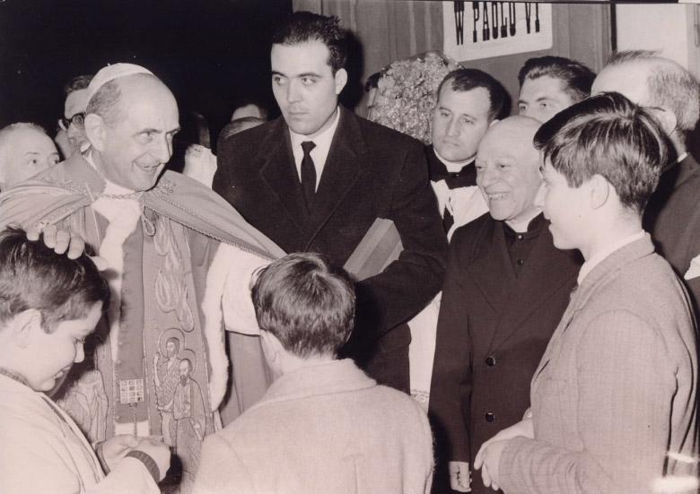 Paolo VI alla Parrocchia di Ognissanti, Roma 7 marzo 1965