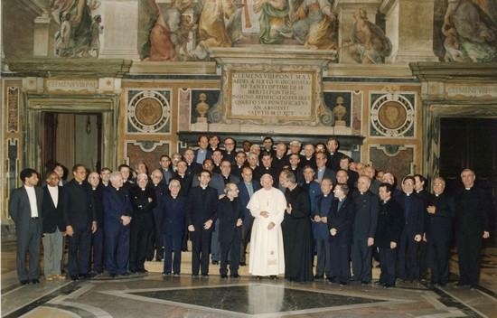 Padri Capitolari in udianza da Papa Giovanni Paolo II